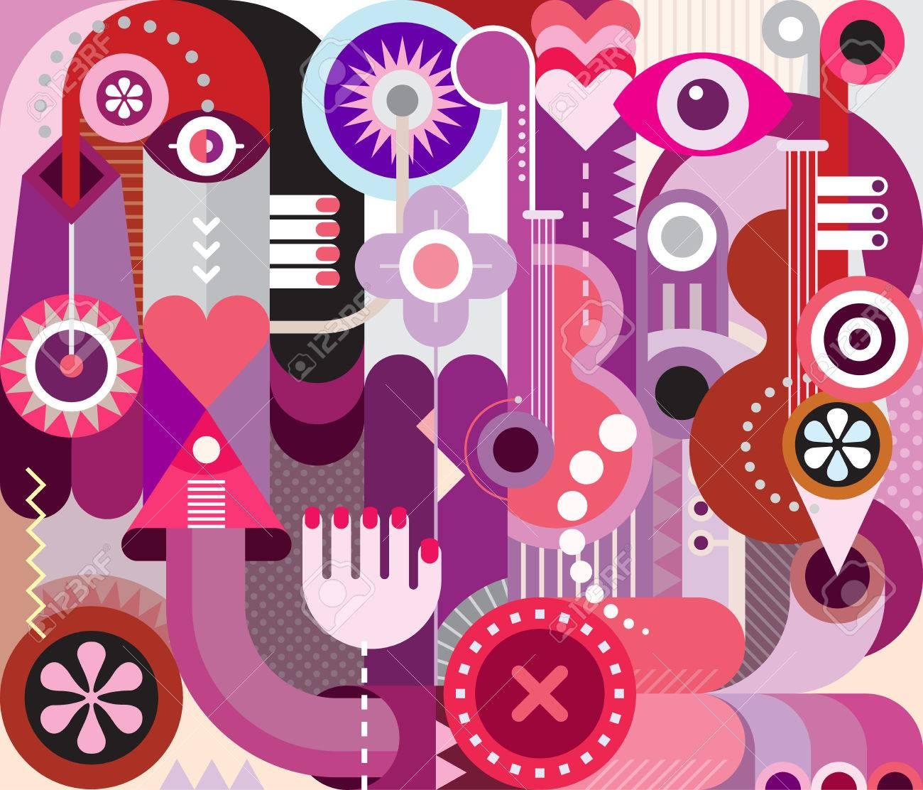 Music festival poster  Abstract art vector design, decorative