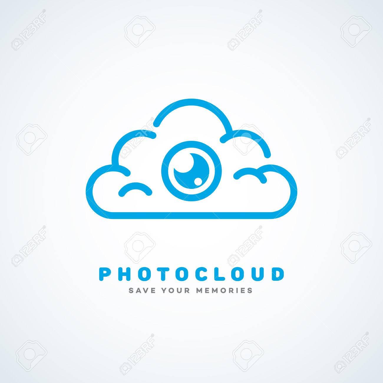 Logo-Design-Vorlage Für Cloud-Service Mit Wolke Und Kamera-Objektiv ...
