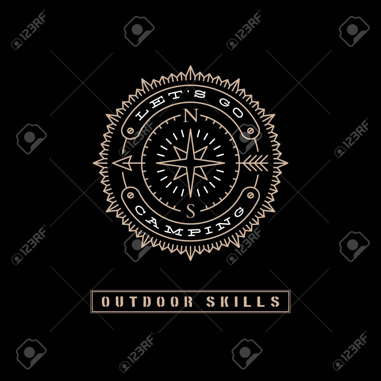 Etiqueta De Diseño De Plantilla Con Flecha, Estrella Y Dirección De ...