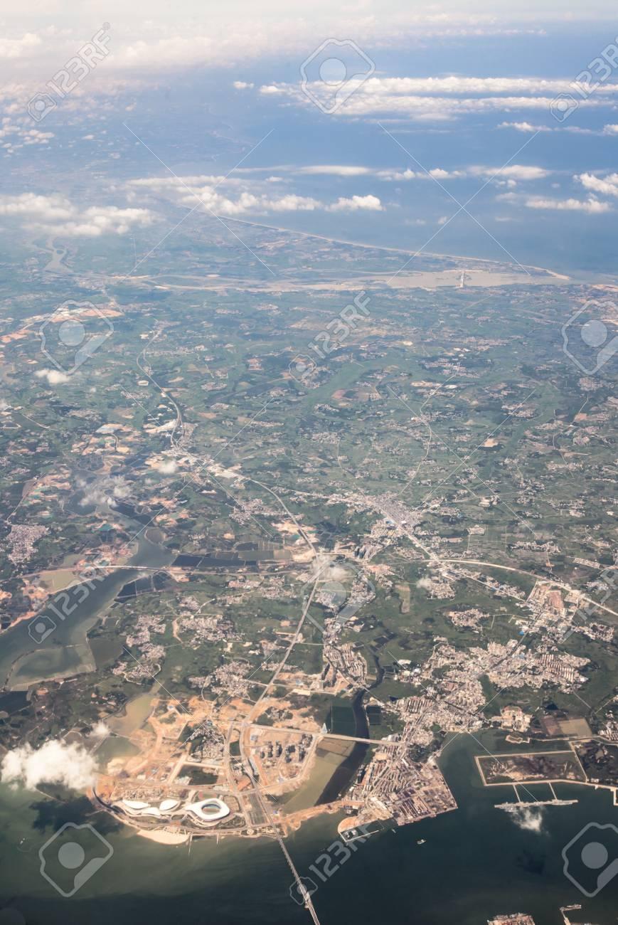 湛江市の空中風景観 の写真素材...