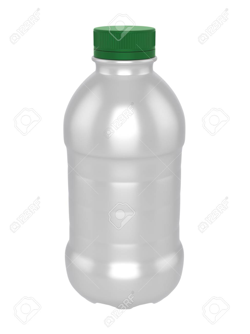 Template Plastic | 3d Realistic Render Of Template Plastic Bottle Of Milk Green Lid