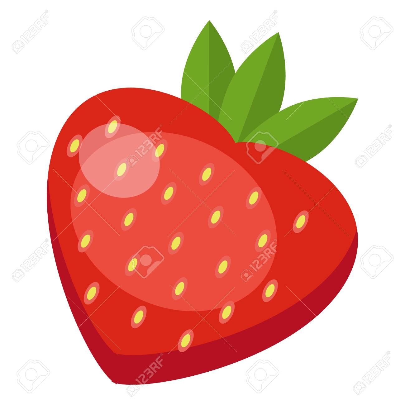strawberry icon flat illustration of strawberry vector icon rh 123rf com strawberry vector free strawberry vector art