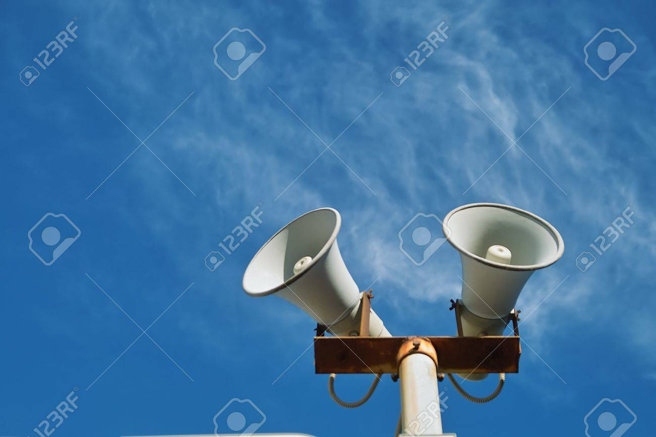 Loudspeaker against the sky Stock Photo - 4266926