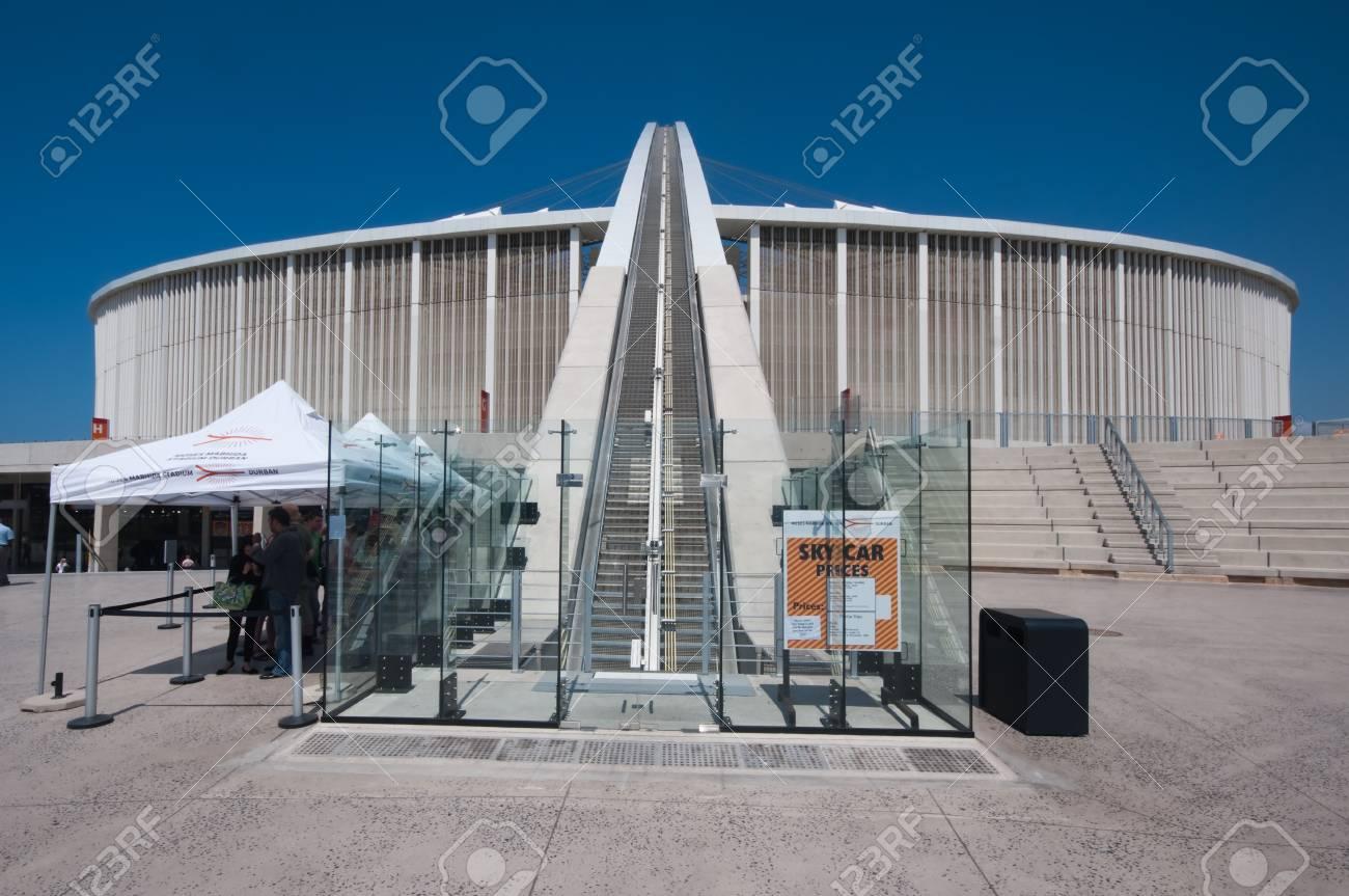 DURBAN - APRIL  5: the Moses Mabhida stadium of Durban, april 5, 2010 Durban, South Africa Stock Photo - 7124312