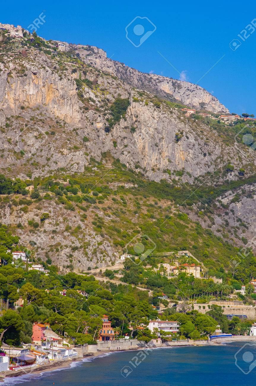 Image Bord De Mer beach villa in eze bord de mer, cte d'azur, france, mediterranean,..