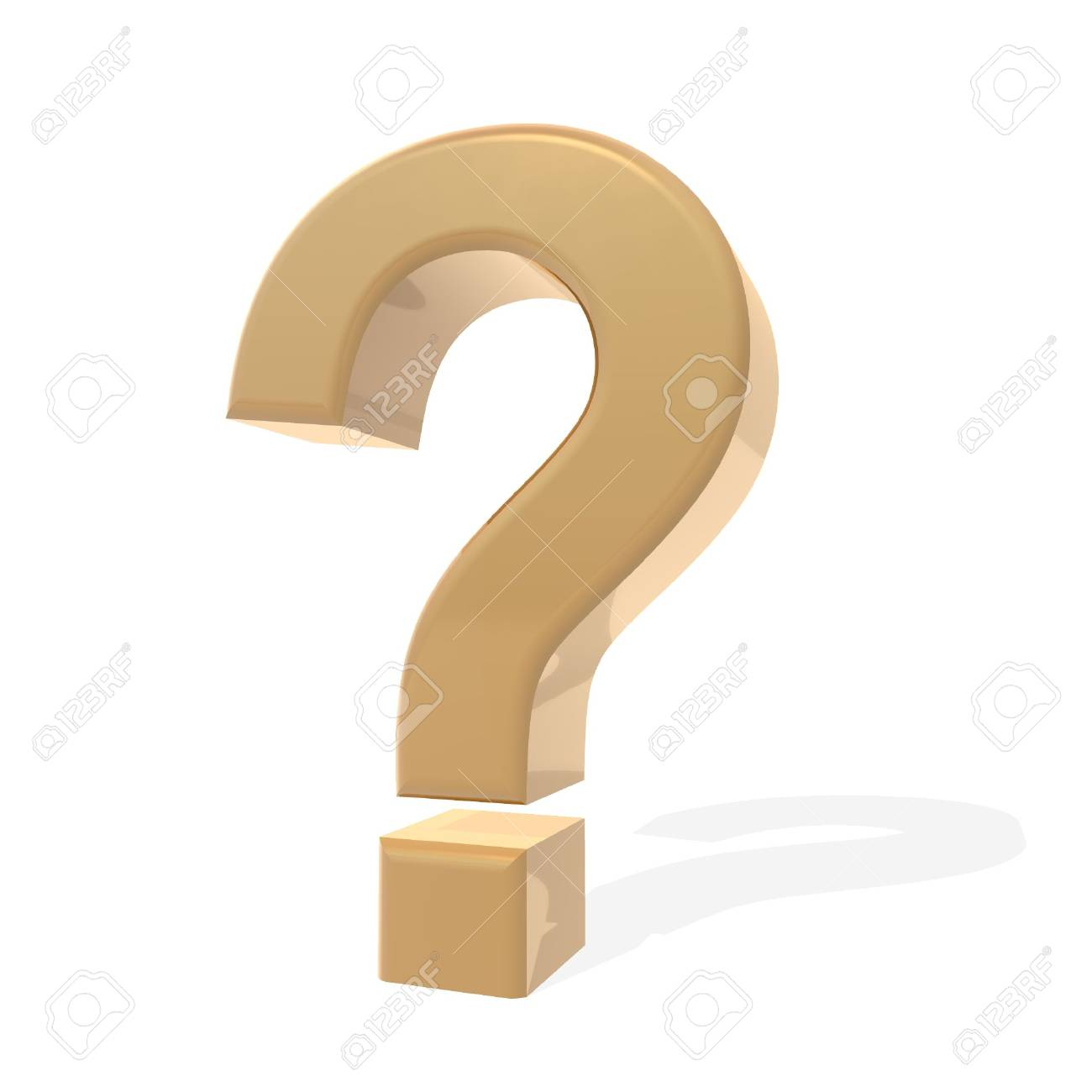 a 3d rendering of a question mark Stock Photo - 1884701