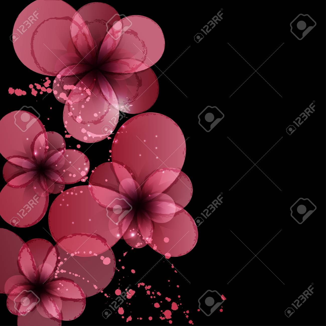 Background With Flower Invitation Card For Wedding Royalty Free ...