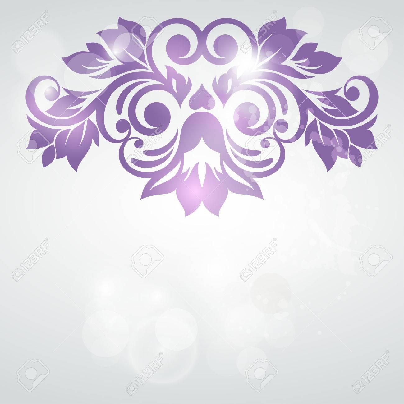 Floral Background Carte De Mariage Ou Une Invitation Avec Le Modle D Lgance Flore Fond Abstrait Voeux Des Fleurs Dans La Style