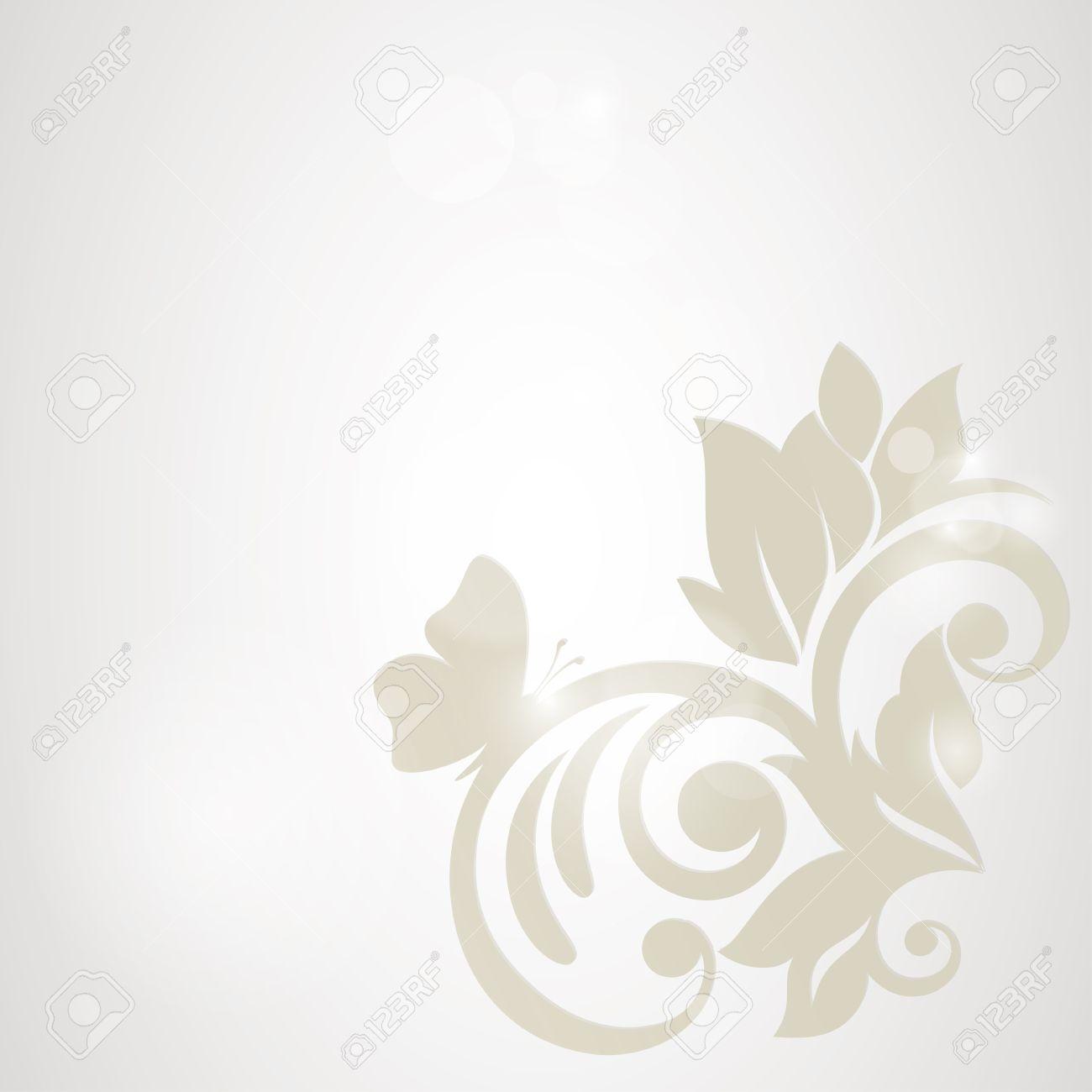 Floral Background Carte De Mariage Ou Une Invitation Avec Le Modele D Elegance Flore Fond Abstrait Voeux Des Fleurs Dans La Style