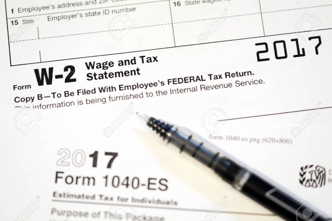 United States Tax Forms For The Irs Stock Photo Picture And
