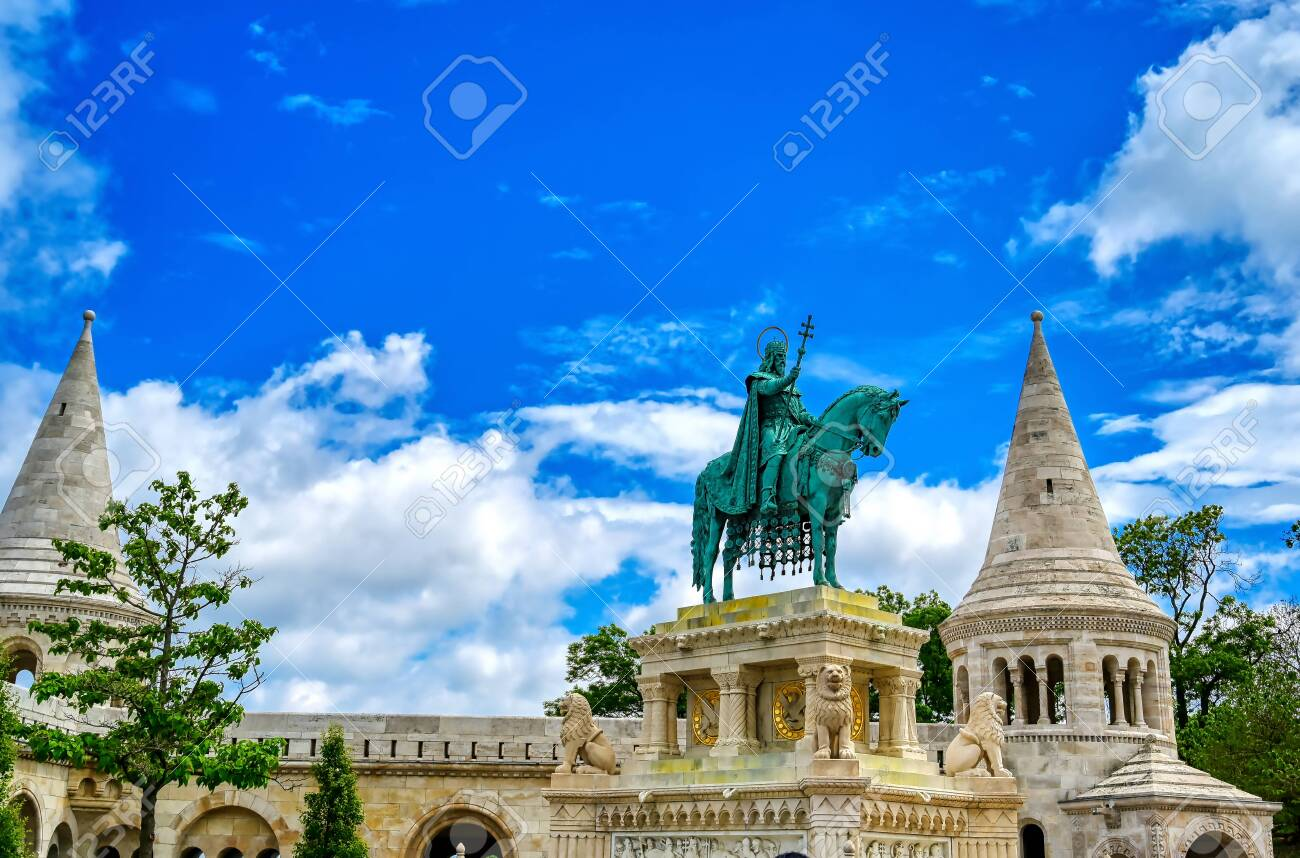 Fisherman's Bastion, located in the Buda Castle complex, in Budapest, Hungary. - 135334061