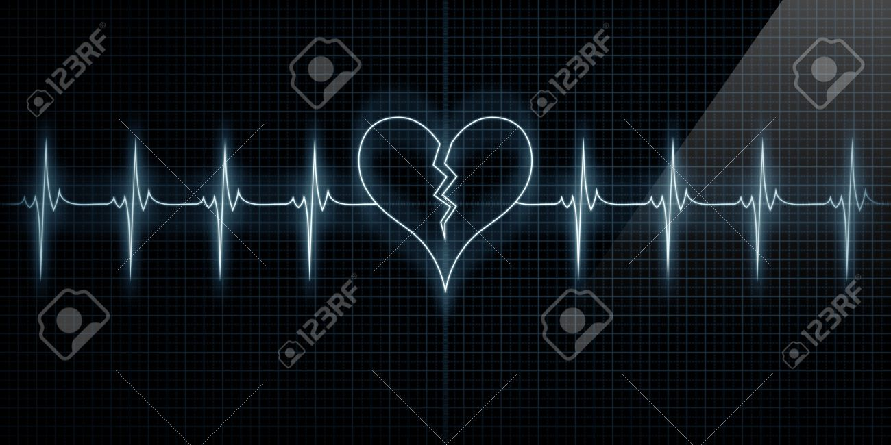 Horizontal pulse trace heart monitor with the symbol of a broken horizontal pulse trace heart monitor with the symbol of a broken heart in line with the buycottarizona