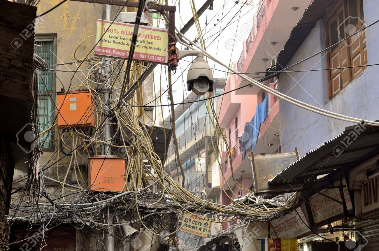 delhi india feb 8 2014 the image represents the usual mess stock rh 123rf com Telco Wiring India Wiring in India