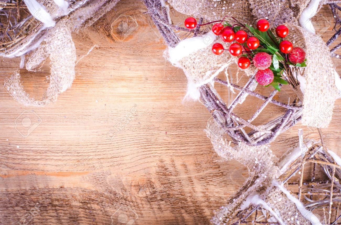 Weihnachts Rustikalen Leuchtkästen Auf Holzuntergrund ...