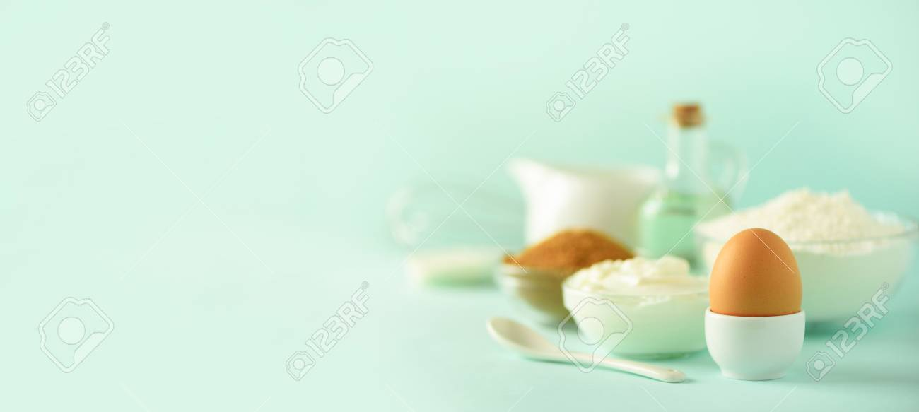 Banner With Copy Space Bakery Food Frame Cooking Concept Different Stock Photo Picture And Royalty Free Image Image 108595925