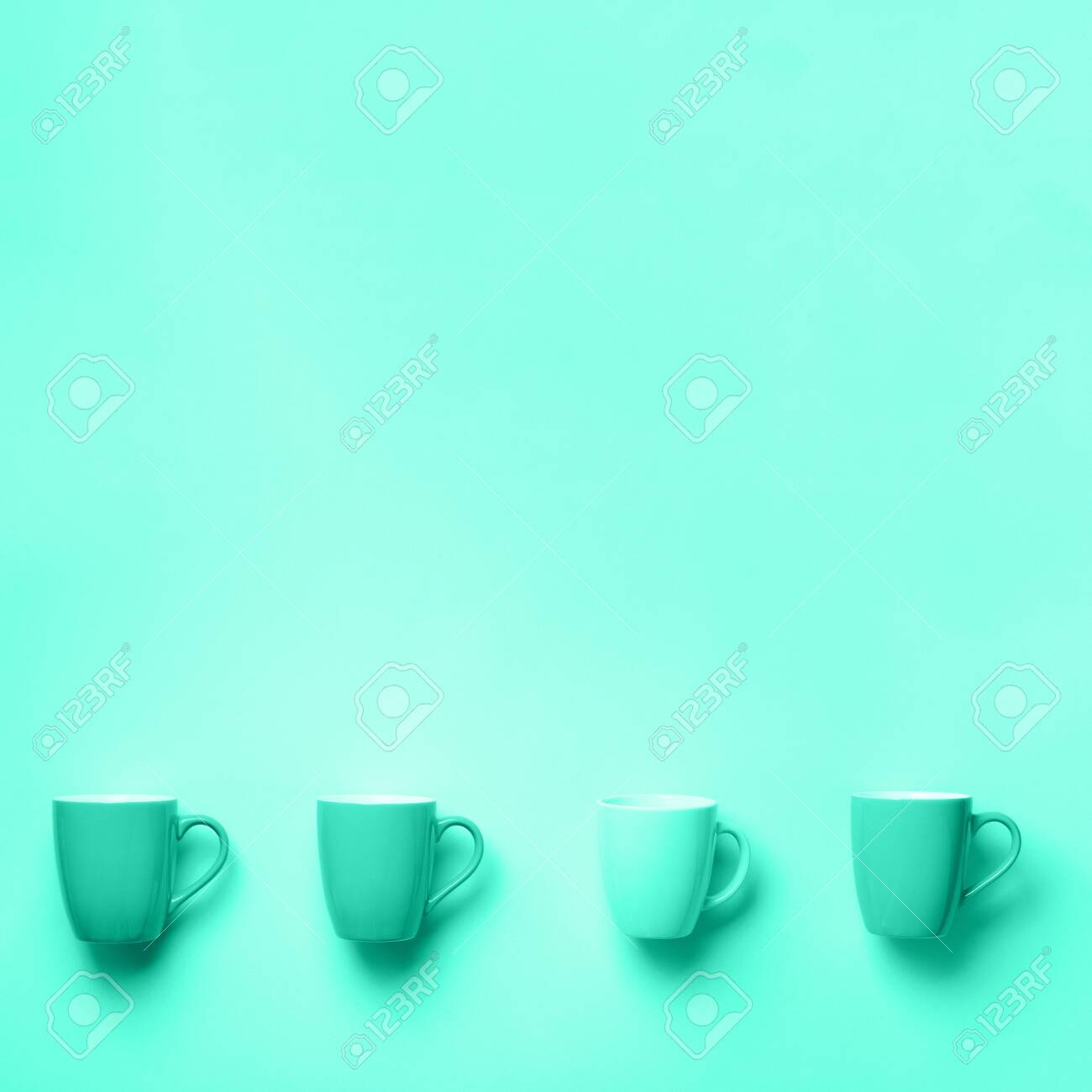 pattern from mint cups over trendy color background trendy green stock photo picture and royalty free image image 140972646 pattern from mint cups over trendy color background trendy green