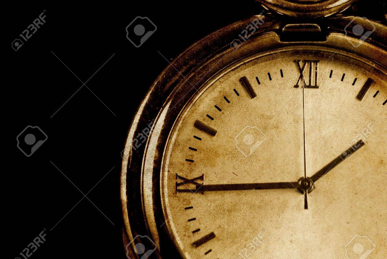 Conceptual Image of Time Passing in Grunge Texture Stock Photo - 8478007