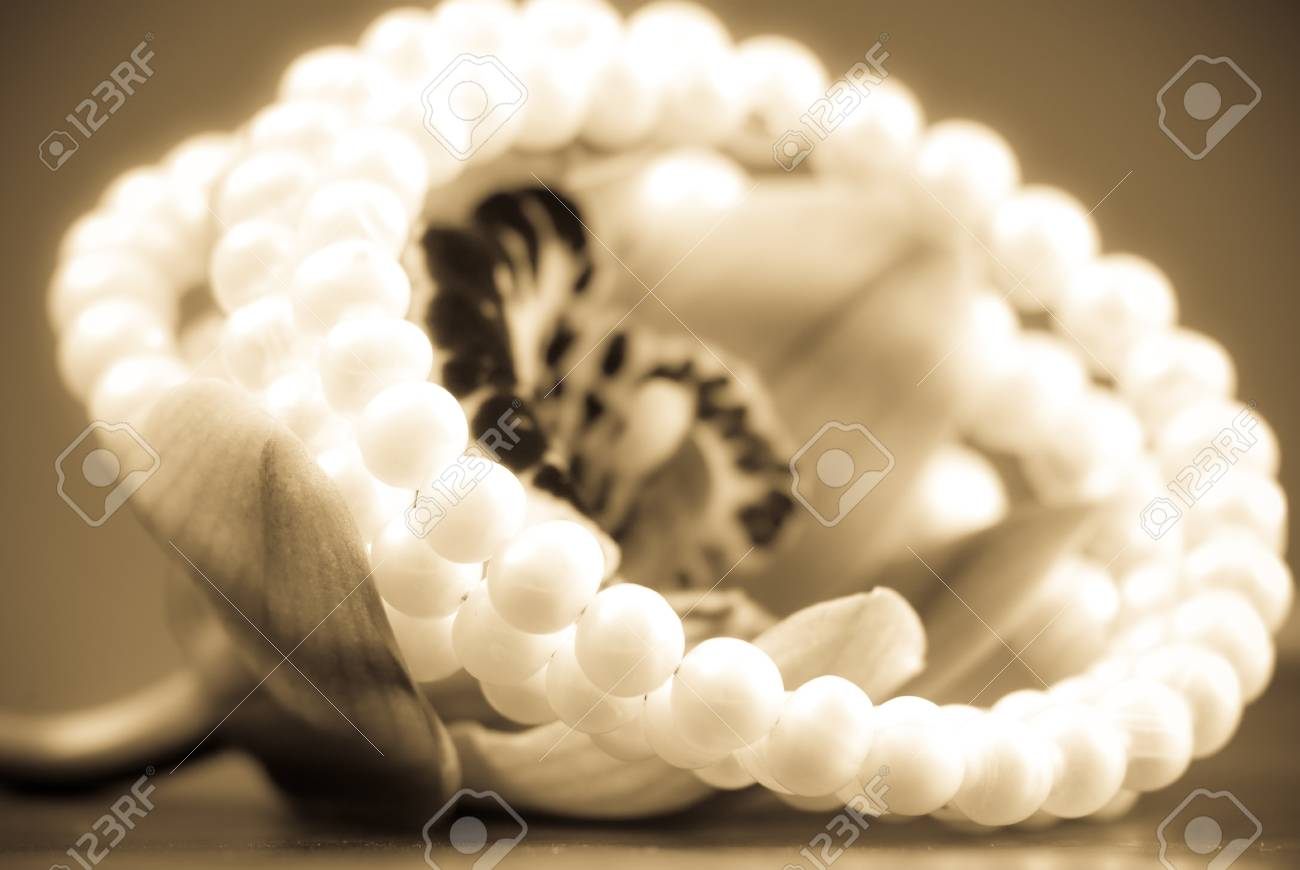 Loving Gift with Pearls Stock Photo - 8855423