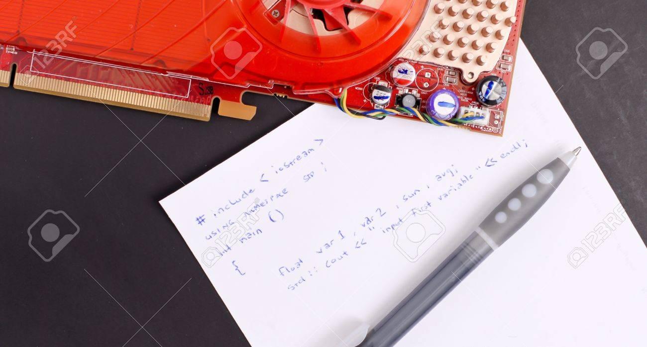 Computer Programming Notes Stock Photo - 10129099