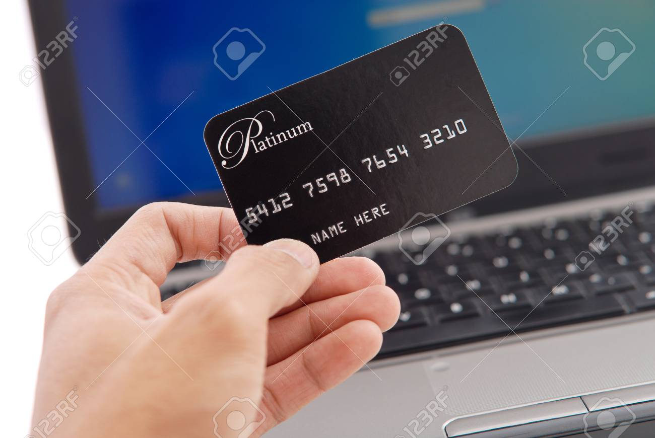 Hand with Credit Card Stock Photo - 10987585