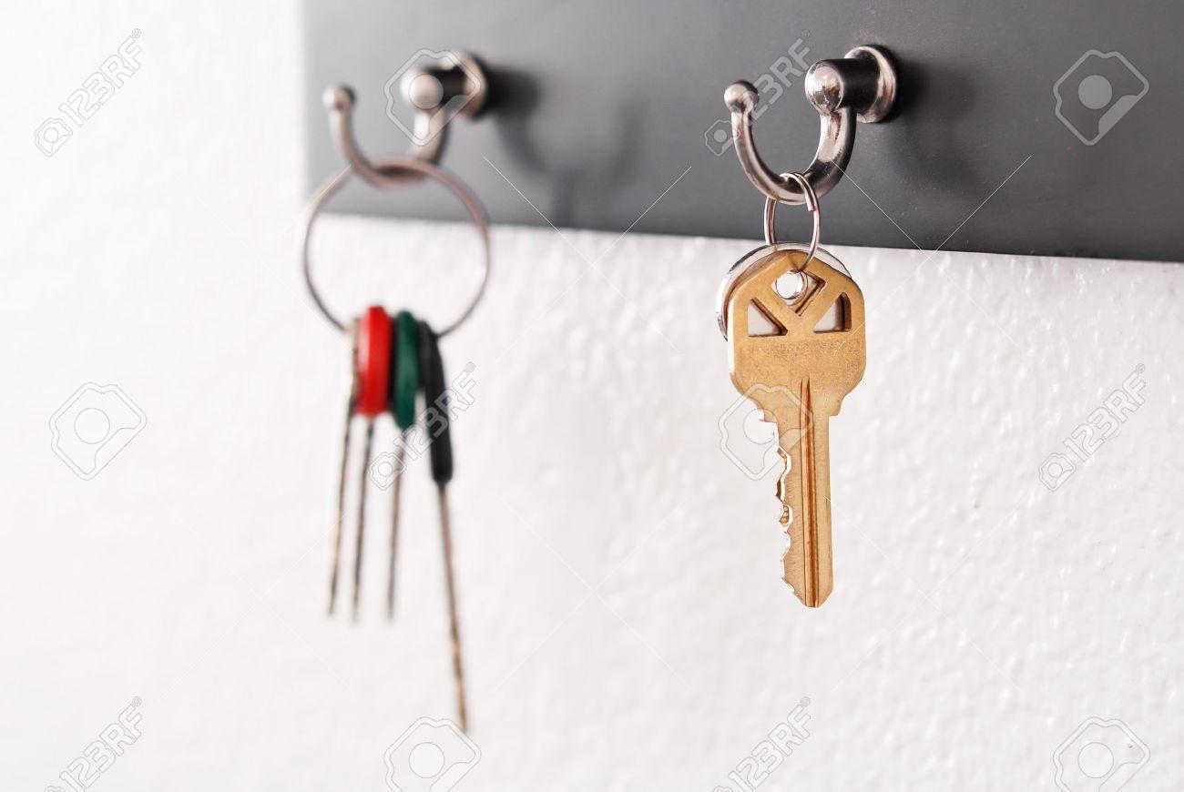 Keys Hanging From Hooks - 11536479