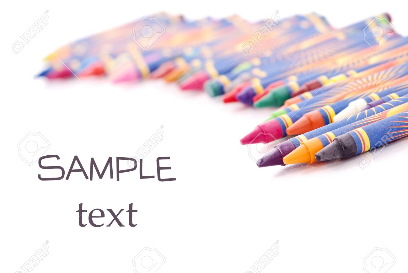 Crayons in Shallow DOF with Space for Text Stock Photo - 11536460