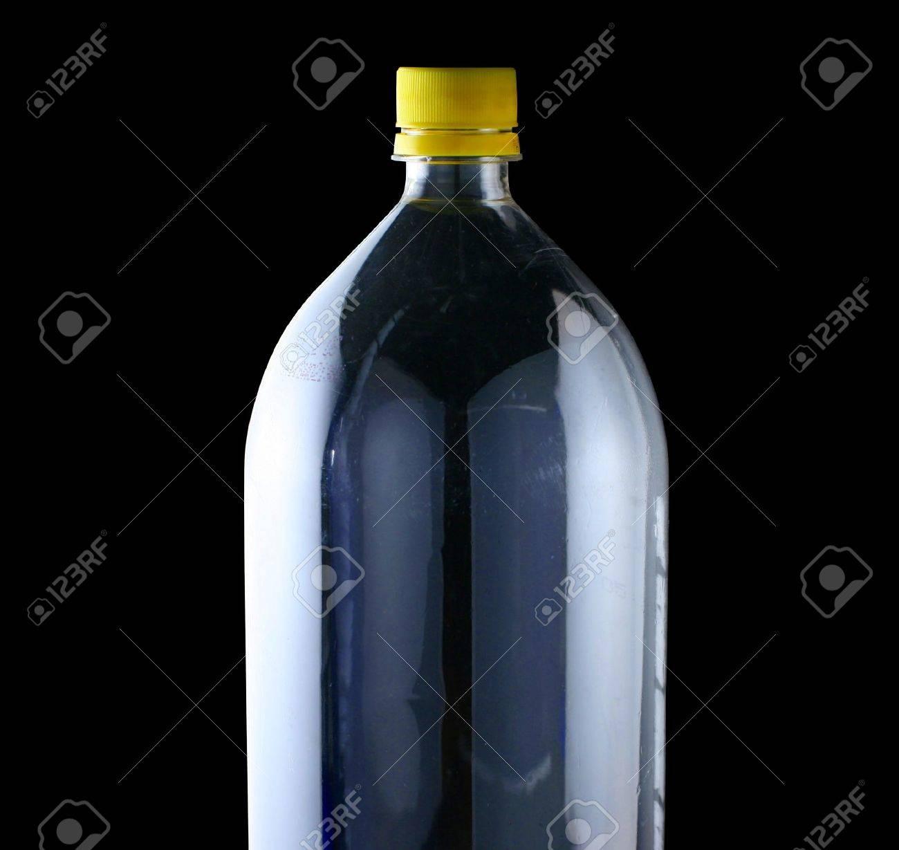 empty two liter bottle on black Stock Photo - 2801734