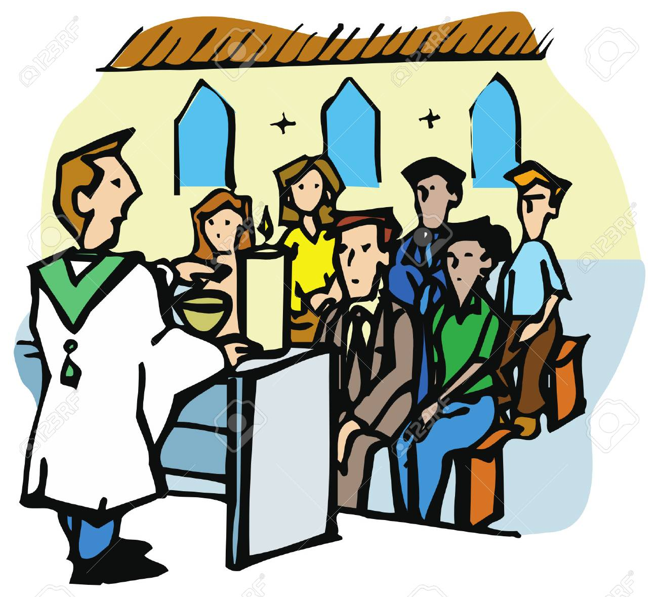 religious service or mass in a christian church the priest is rh 123rf com mass clip art science mass clip art science