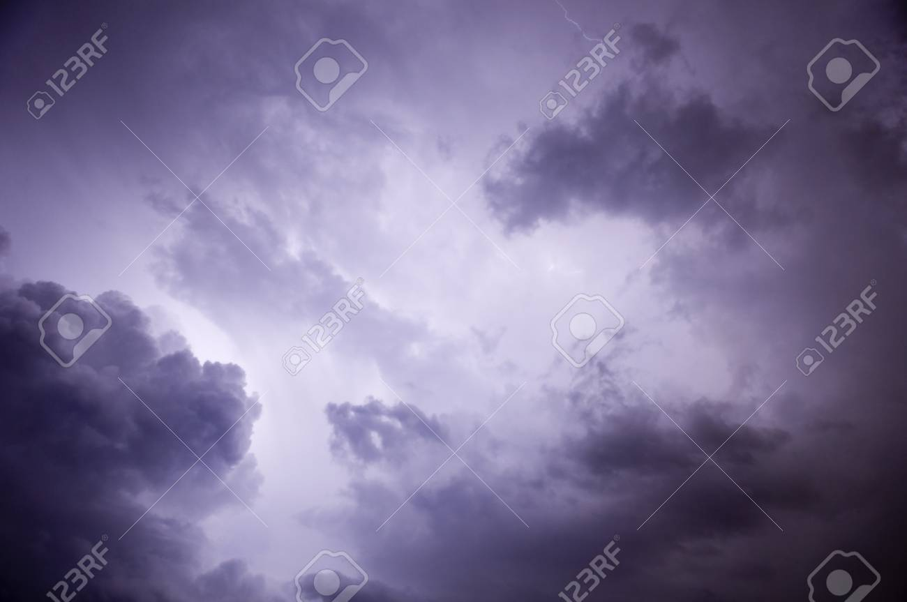 Clouds and Lightning during a Florida night storm Stock Photo - 7086413