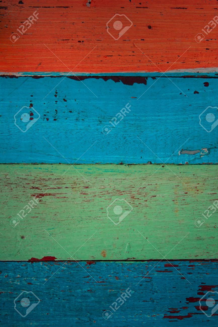 Farbenfrohe Alte Holz Gemalte Oberflache Lizenzfreie Fotos Bilder