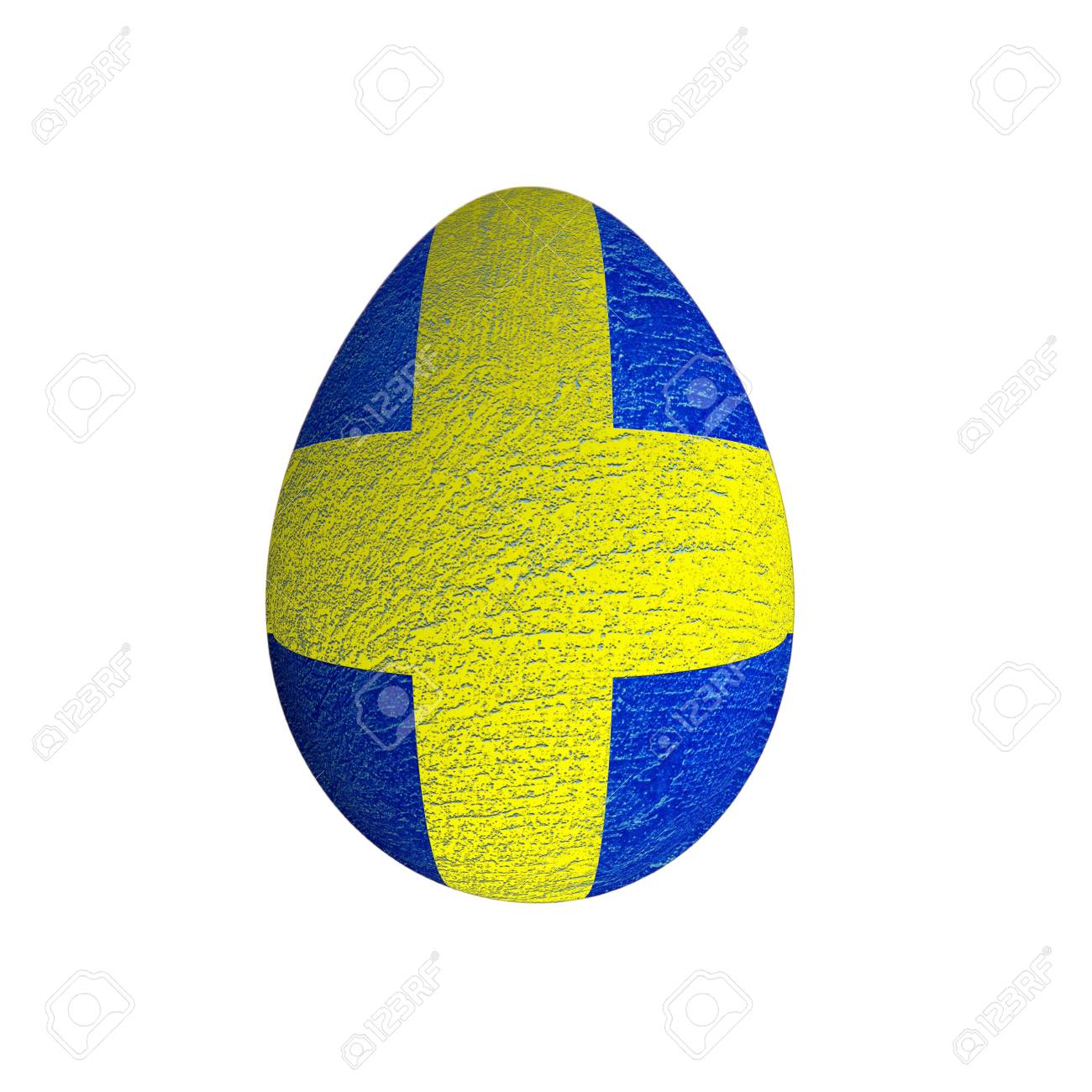 easter egg with grunge Saweden flag isolated  on white background Stock Photo - 12937845