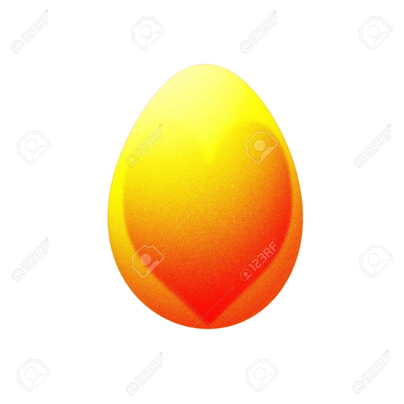 heart on easter egg isolated on white Stock Photo - 12937888