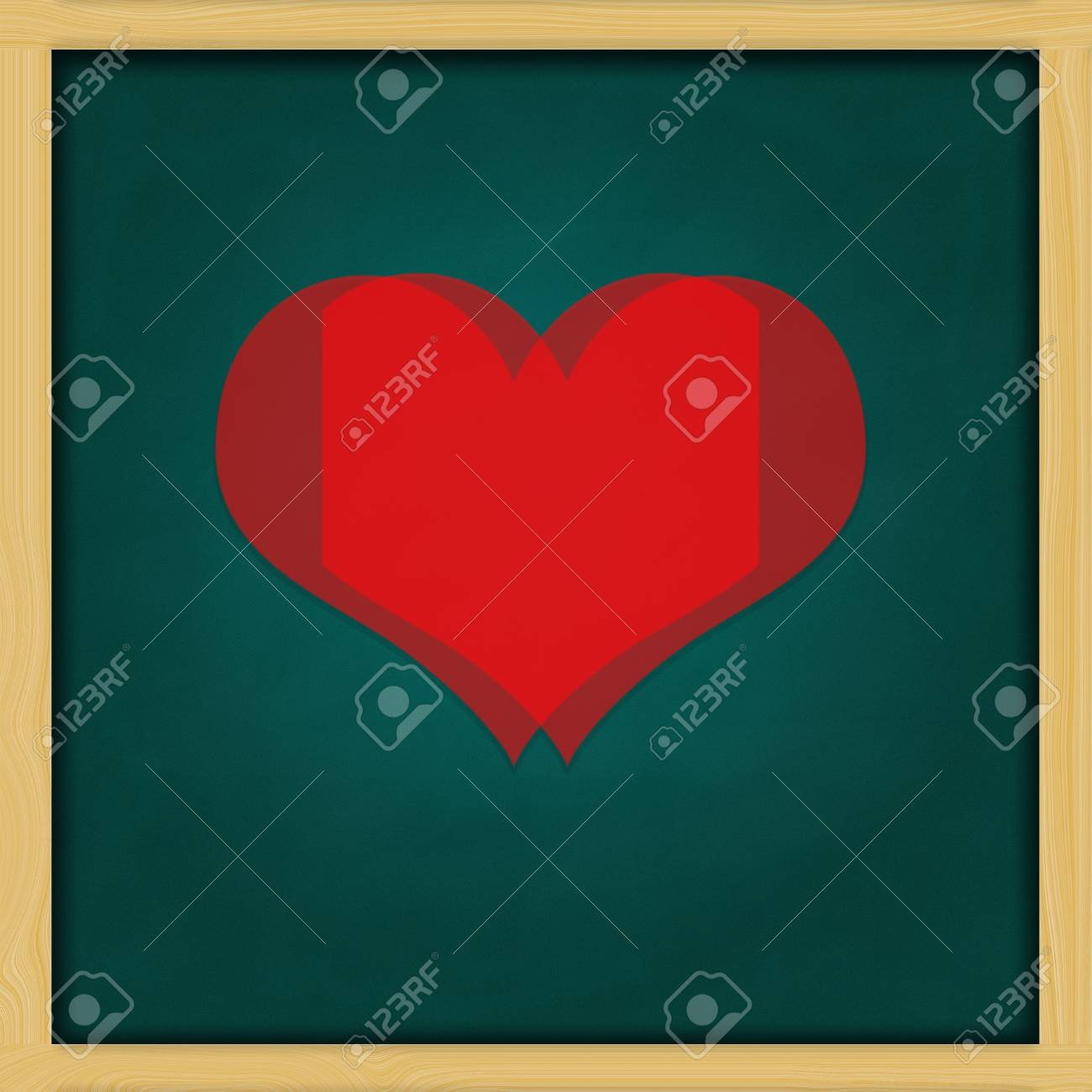 Love Background and green chalkboard frame   conceptual Stock Photo - 13964439