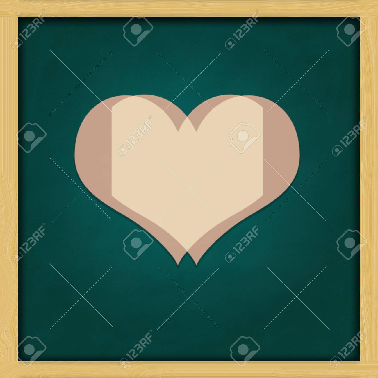 Liebe Hintergrund Und Grüne Tafel Konzeptionellen Rahmen Lizenzfreie ...