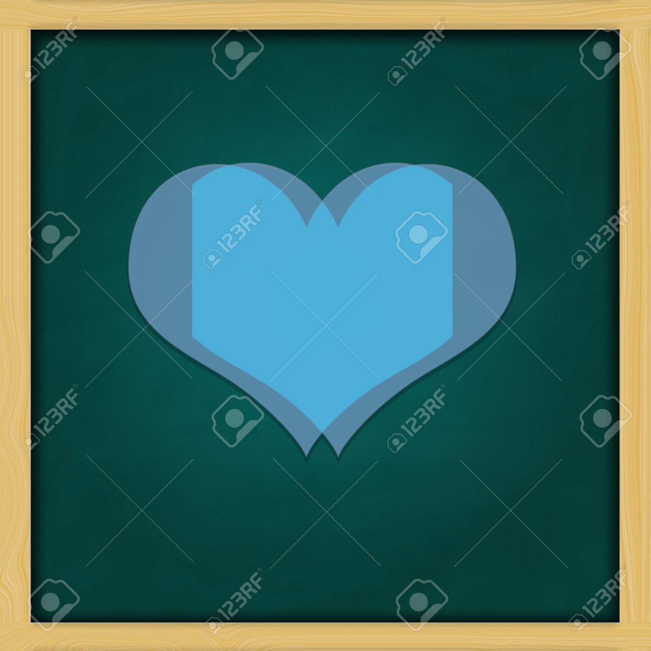 Love Background and green chalkboard frame   conceptual Stock Photo - 13964436