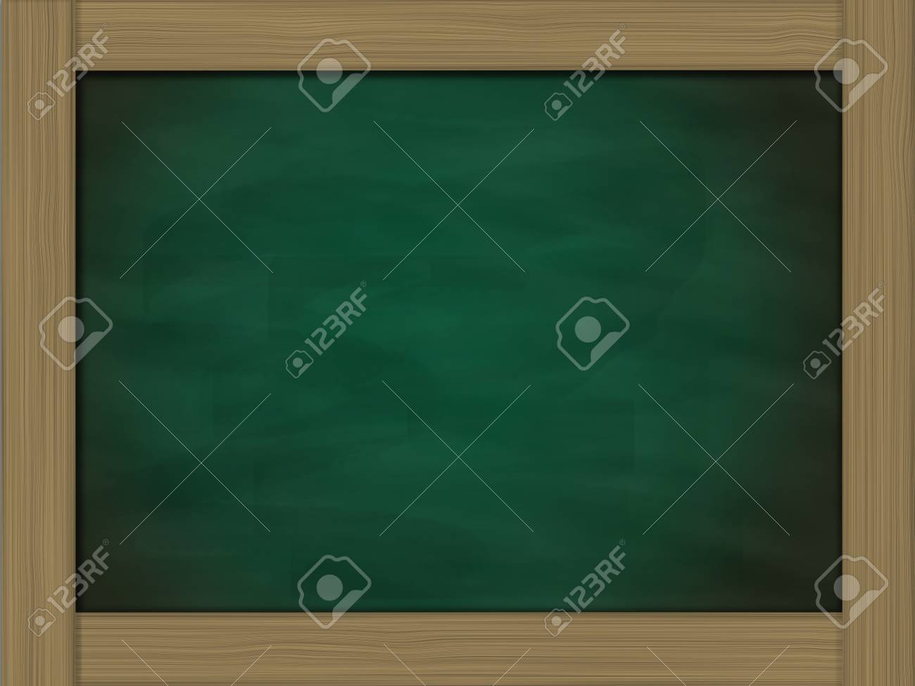 blank grunge green chalkboard and wood frame Stock Photo - 14031878