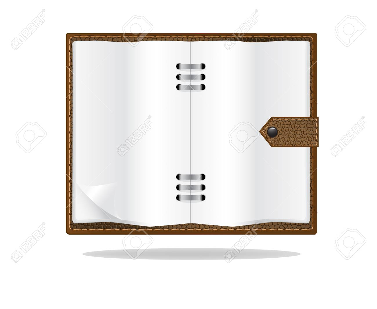 Memo paper, with brown leather notebook Stock Vector - 17882962