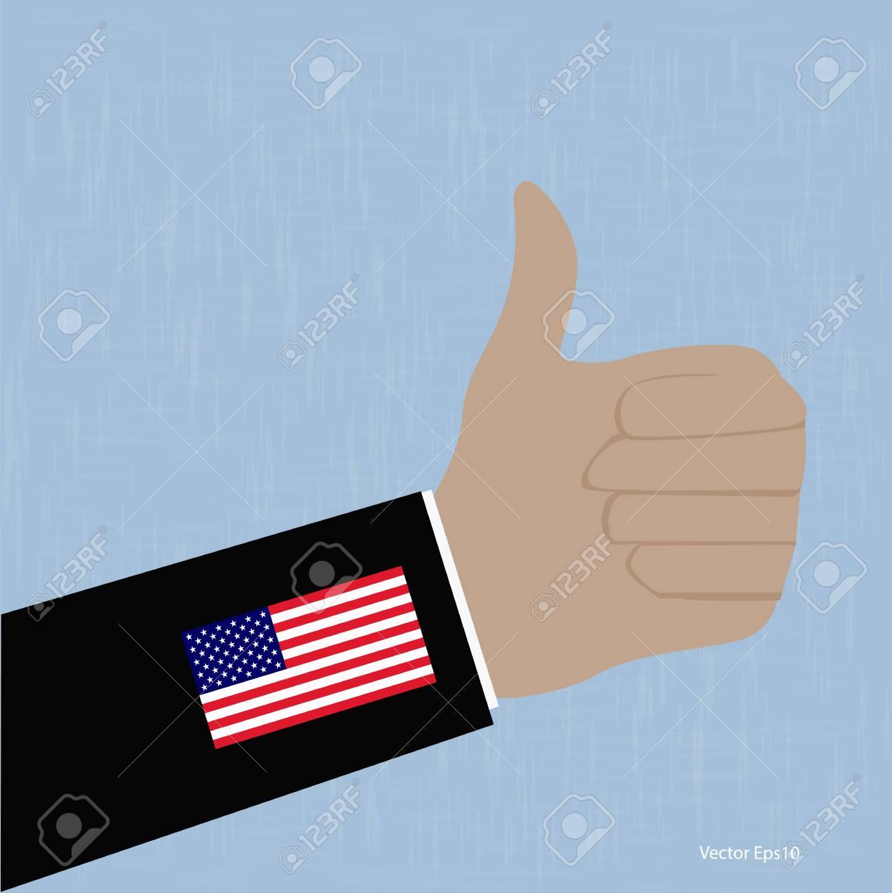 USA Like Thumbs Up symbol  vector Eps10 illustration Stock Vector - 18216705