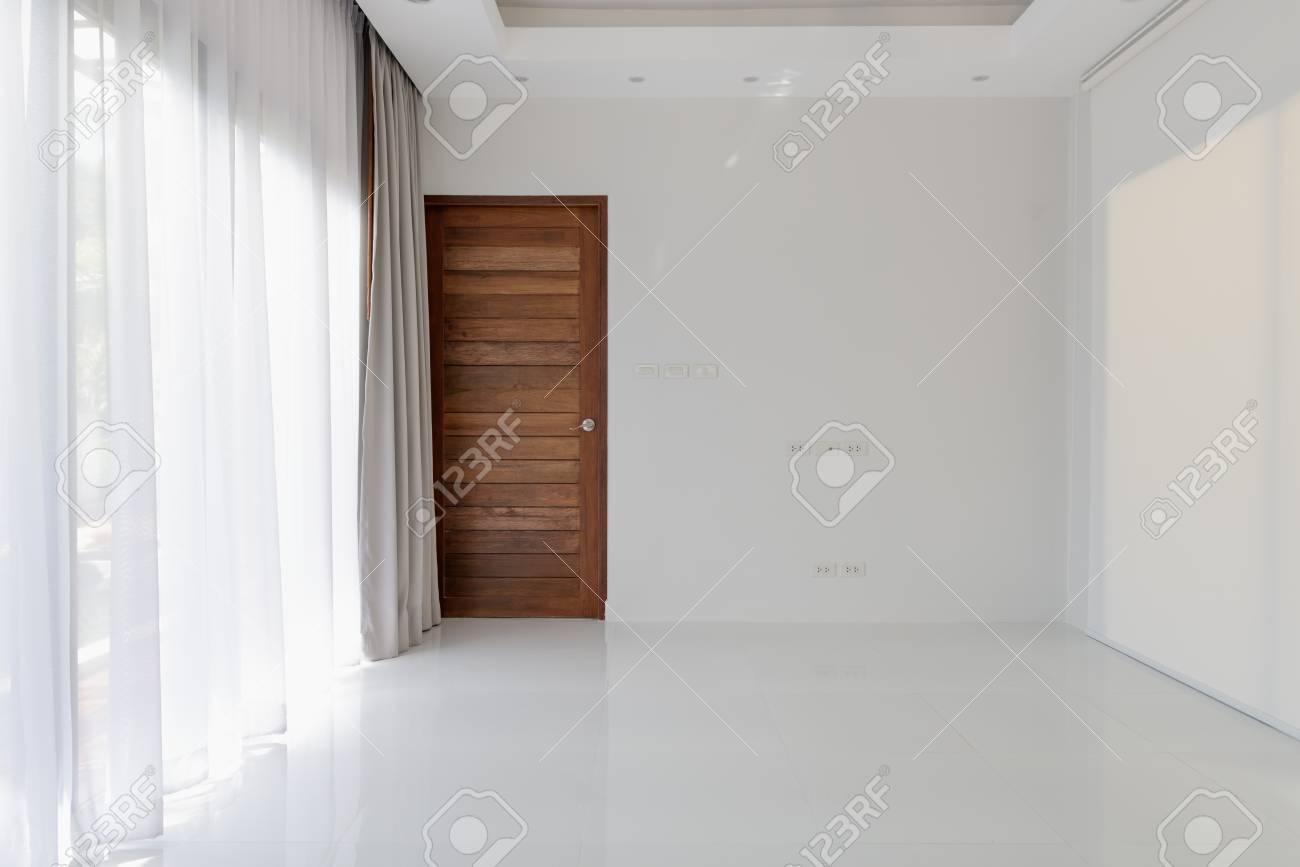 Décoration D\'intérieur De Salon Vide Moderne Blanc Avec Fond De ...