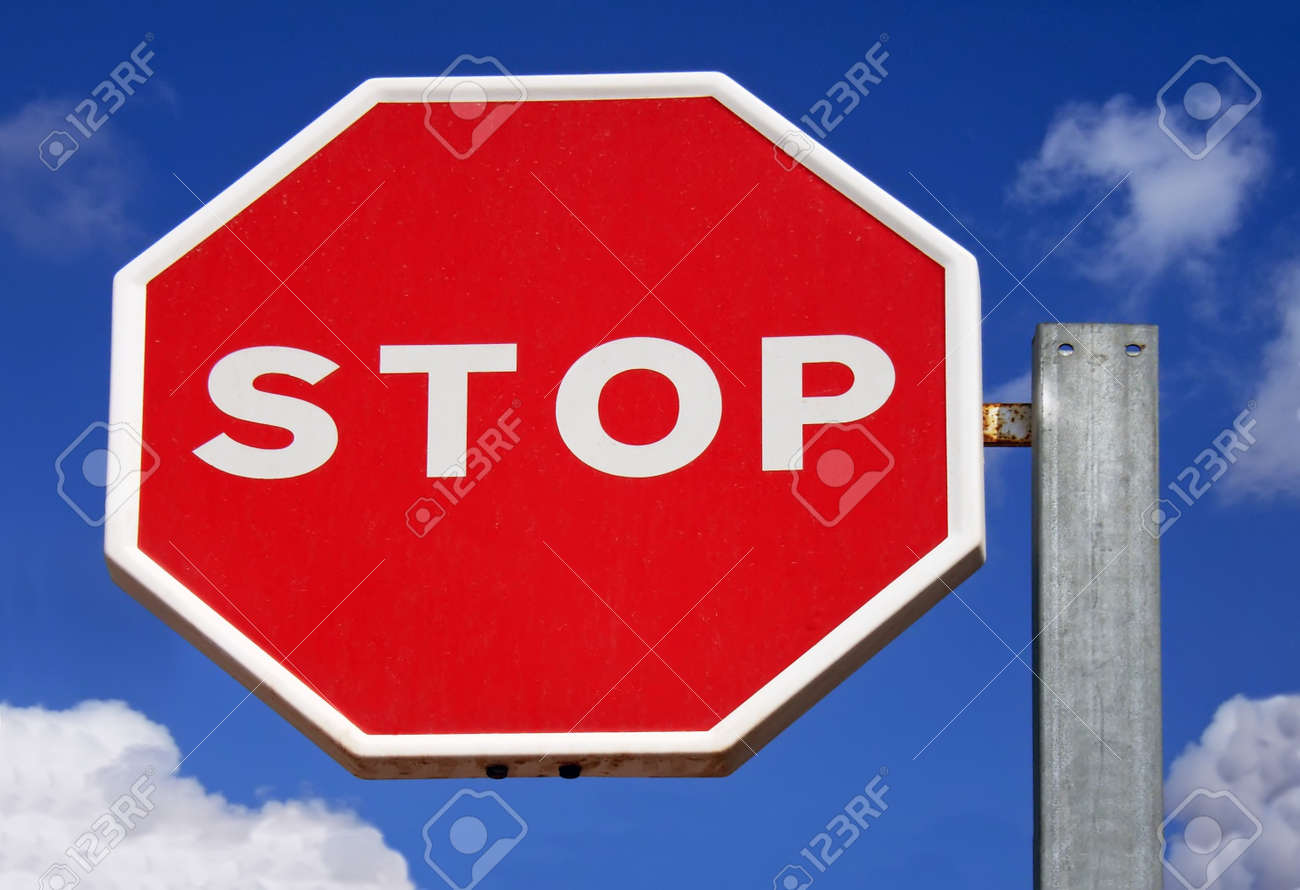 Stop Signs in Spain Stop Sign on an Spanish Road