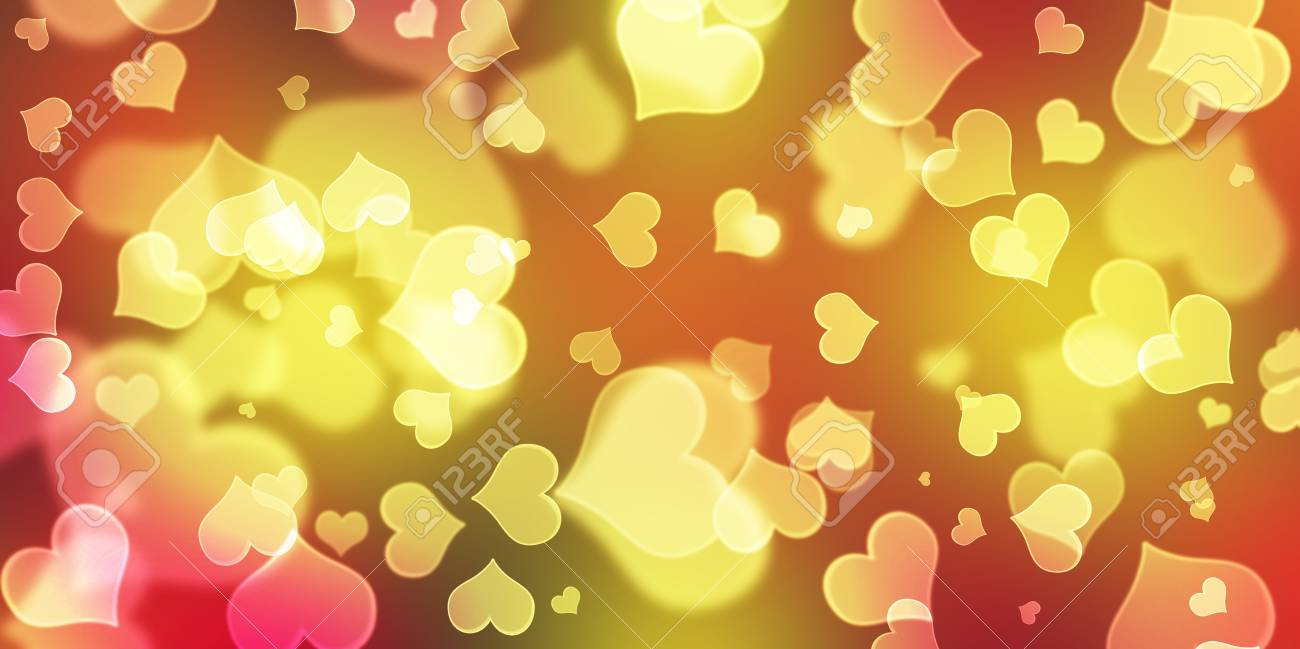 Heart Bokeh Background,Love Valentine day concept,Concept template