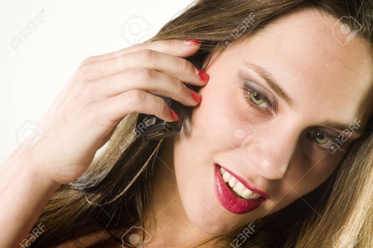girl using her cellphone Stock Photo - 2400255