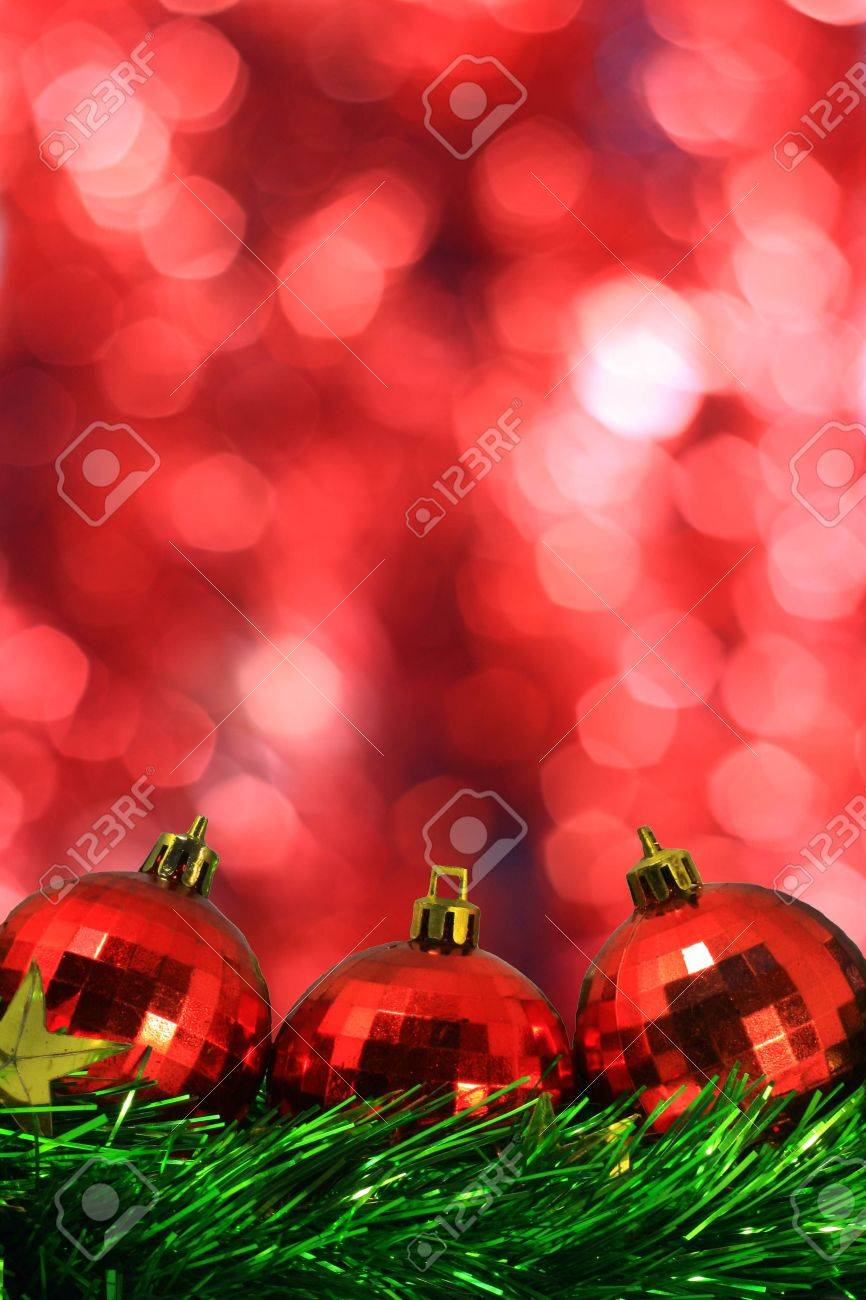 red ball color with lighting star Stock Photo - 9645642