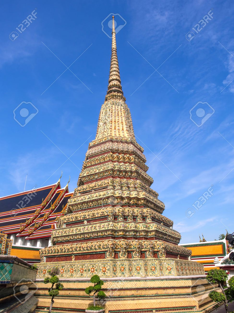 Great four Jedi in Wat Pho (Temple of Reclining Buddha) under blue sky & Great Four Jedi In Wat Pho (Temple Of Reclining Buddha) Under ... islam-shia.org