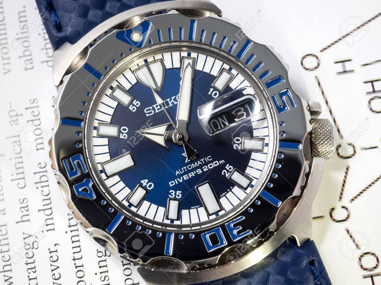 September Seiko Taucher Automatik Uhr Konigsblau Monster Begrenzte Modell