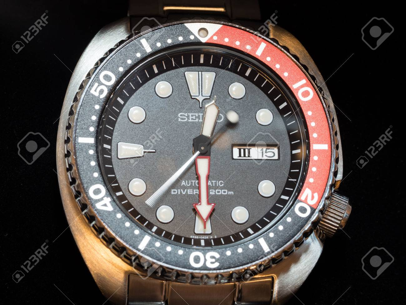 BANGKOK - MAY 31: Seiko Prospex diver black dial, red and black