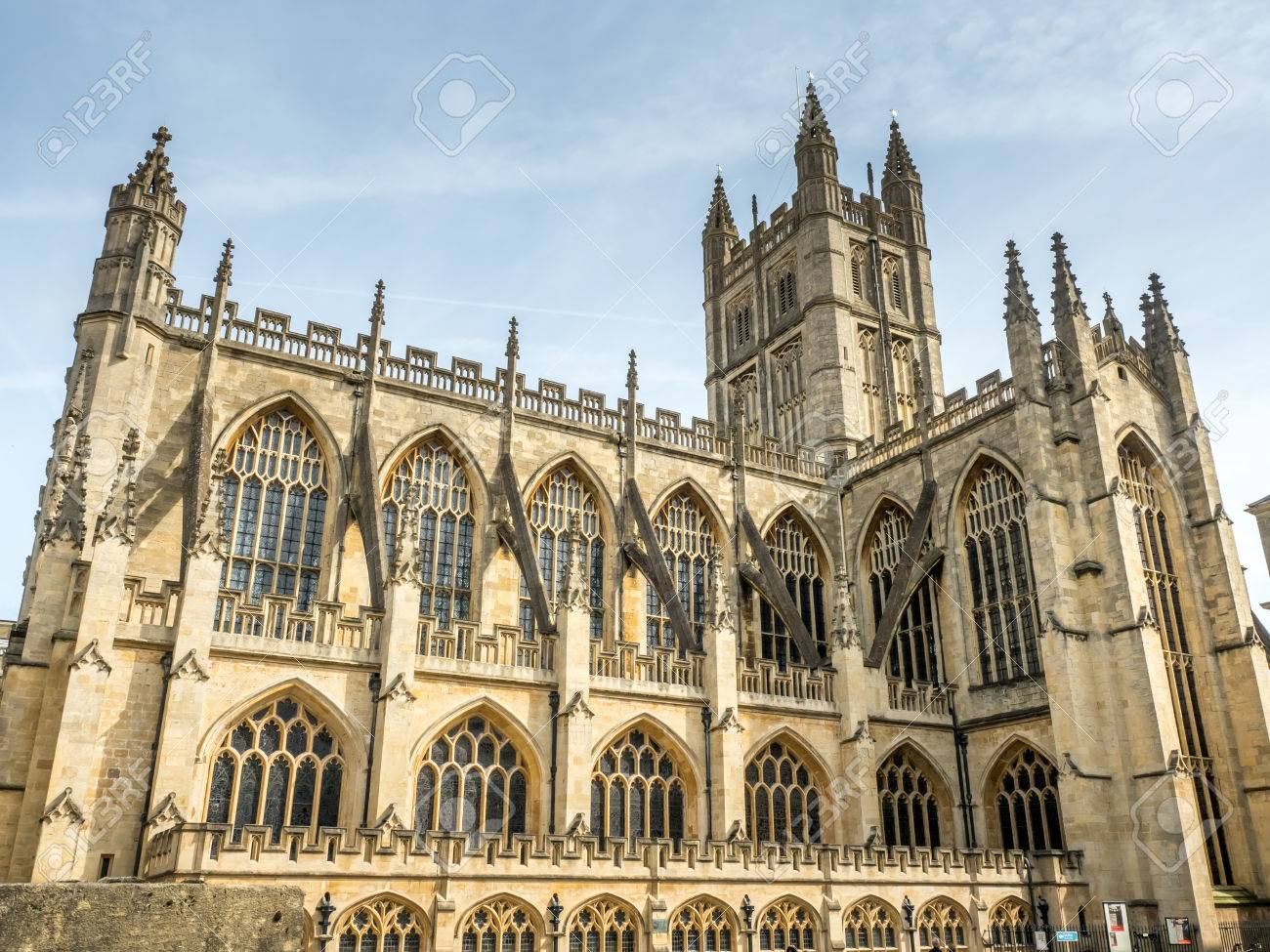 Stock Photo - The Abbey Church of Saint Peter and Saint Paul, known as Bath  Abbey, English gothic architecture building in Bath, England