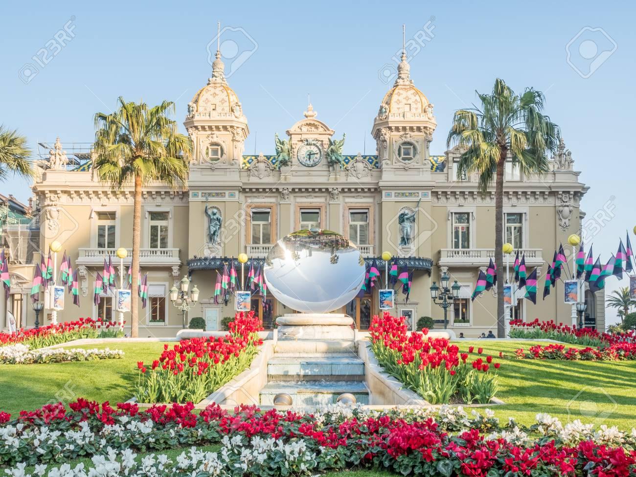 Casino De Monte Carlo >> Monaco April 8 Front View Of Casino De Monte Carlo With Colorful