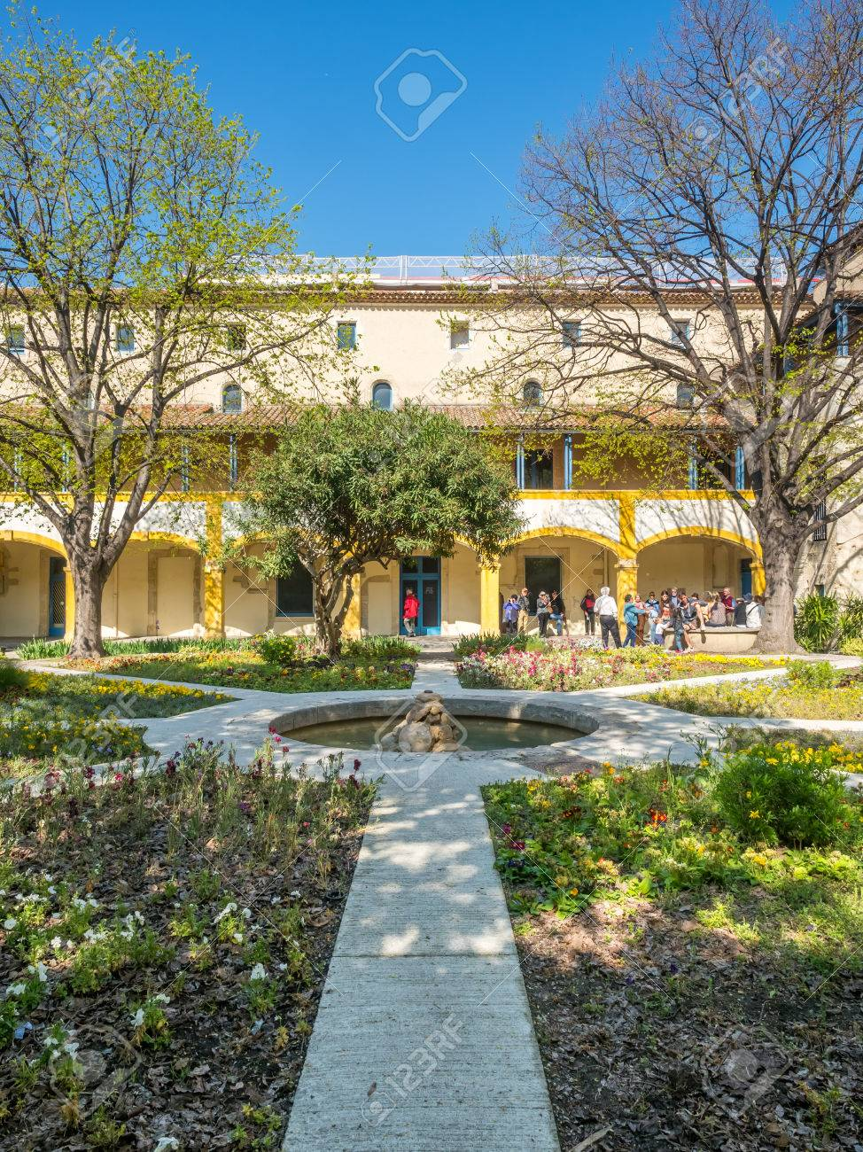 ARLES, FRANCE   APRIL 12 : Garden Of Asylum Hospital, Inspiration Place For  Painting
