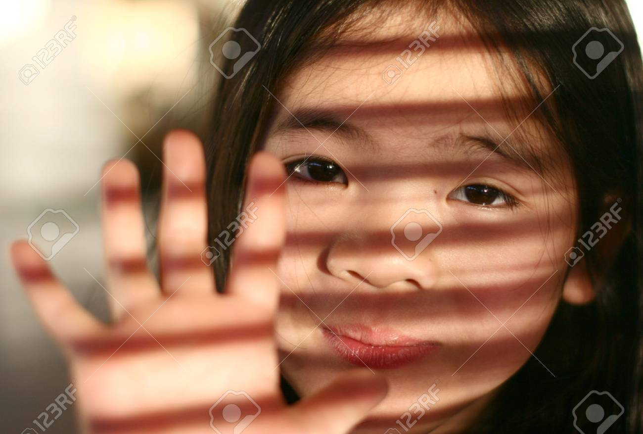 close up of young girl child from china Stock Photo - 2125902